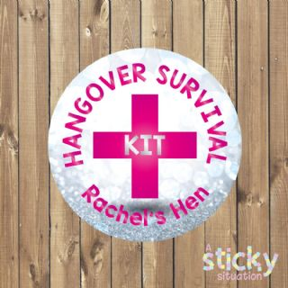 Personalised 'Hangover Survival Kit' Stickers